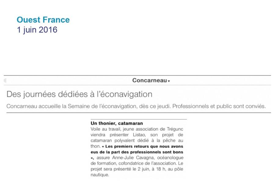 Ouest France 1 juin 2016