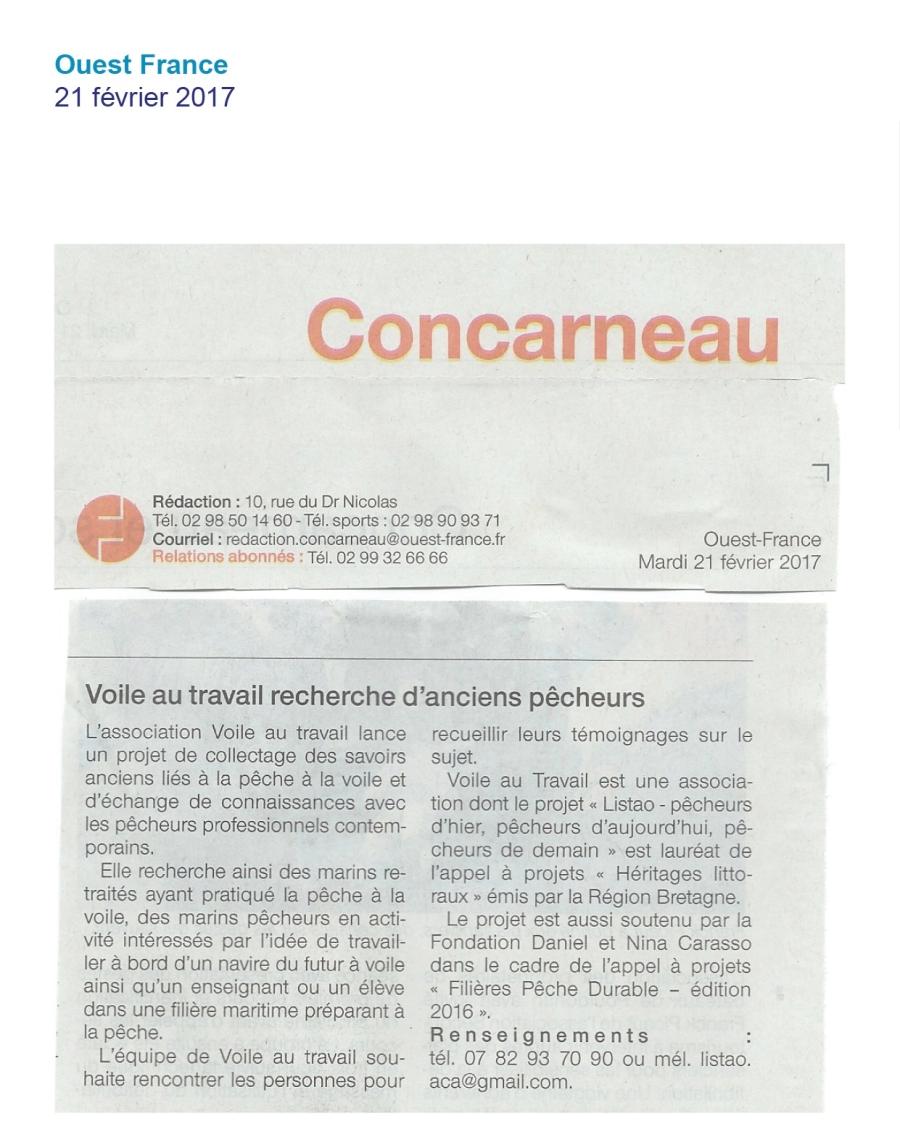 Ouest France février 2017