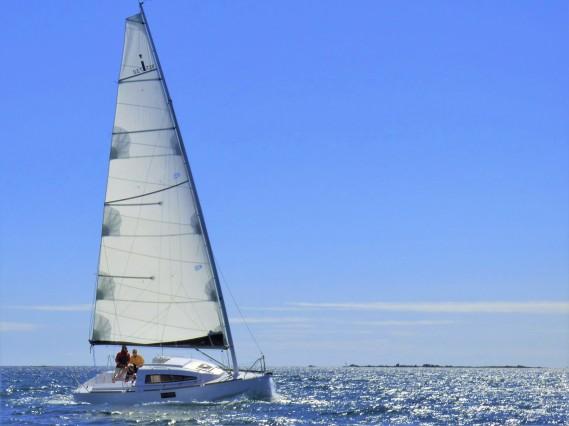 Ikone 7.5 espace vag gréé en Cat Boat
